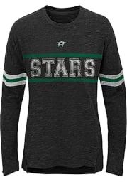 Dallas Stars Girls Black Pacesetter Long Sleeve T-shirt