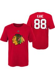 Patrick Kane Chicago Blackhawks Boys Red Player Short Sleeve T-Shirt