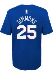 Ben Simmons Philadelphia 76ers Boys Blue Name and Number Short Sleeve T-Shirt