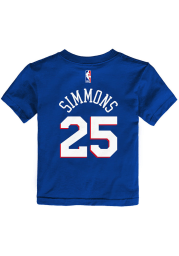 Ben Simmons Philadelphia 76ers Toddler Blue Name and Number Short Sleeve Player T Shirt