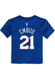 Joel Embiid Philadelphia 76ers Toddler Blue Name and Number Short Sleeve Player T Shirt