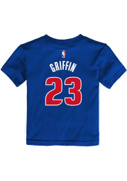 Blake Griffin Detroit Pistons Toddler Blue Name and Number Short Sleeve Player T Shirt
