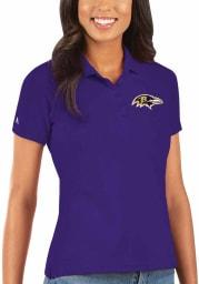 Antigua Baltimore Ravens Womens Purple Legacy Pique Short Sleeve Polo Shirt