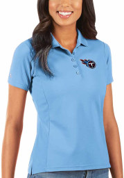 Antigua Tennessee Titans Womens Blue Legacy Pique Short Sleeve Polo Shirt