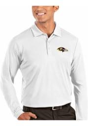 Antigua Baltimore Ravens Mens White Tribute Long Sleeve Polo Shirt