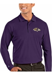 Antigua Baltimore Ravens Mens Purple Tribute Long Sleeve Polo Shirt