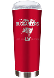 Tampa Bay Buccaneers Super Bowl LV Champions 18oz Laser Etched Stainless Steel Tumbler - Red