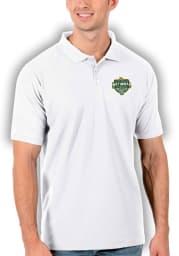 Antigua Baylor Bears Mens White 2021 National Champion Legacy Pique Short Sleeve Polo