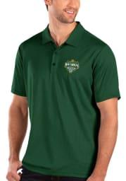 Antigua Baylor Bears Mens Green 2021 National Champion Balance Short Sleeve Polo