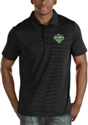 Antigua Baylor Bears Mens Black 2021 National Champion Quest Short Sleeve Polo