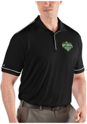Antigua Baylor Bears Mens Black 2021 National Champion Salute Short Sleeve Polo