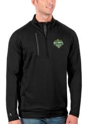 Antigua Baylor Bears Mens Black 2021 National Champion Generation Long Sleeve 1/4 Zip Pullover
