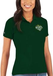 Antigua Baylor Bears Womens Green 2021 National Champion Legacy Pique Short Sleeve Polo Shirt