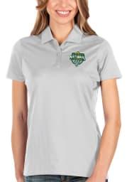 Antigua Baylor Bears Womens White 2021 National Champion Balance Short Sleeve Polo Shirt