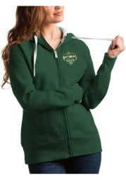 Antigua Baylor Bears Womens Green 2021 National Champion Victory Long Sleeve Full Zip Jacket