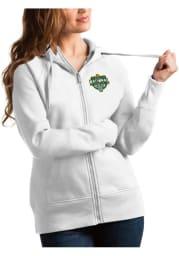 Antigua Baylor Bears Womens White 2021 National Champion Victory Long Sleeve Full Zip Jacket