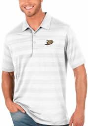 Antigua Anaheim Ducks Mens White Compass Short Sleeve Polo