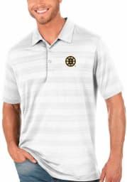 Antigua Boston Bruins Mens White Compass Short Sleeve Polo