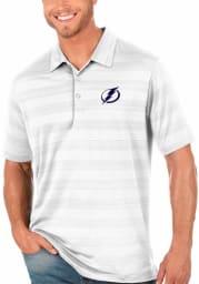 Antigua Tampa Bay Lightning Mens White Compass Short Sleeve Polo