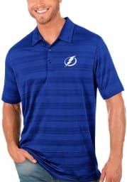 Antigua Tampa Bay Lightning Mens Blue Compass Short Sleeve Polo
