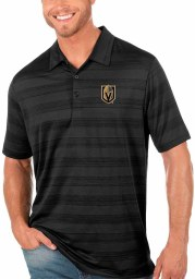 Antigua Vegas Golden Knights Mens Black Compass Short Sleeve Polo