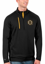 Antigua Boston Bruins Mens Black Generation Long Sleeve 1/4 Zip Pullover