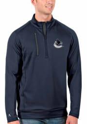 Antigua Vancouver Canucks Mens Navy Blue Generation Long Sleeve 1/4 Zip Pullover