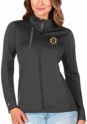 Antigua Boston Bruins Womens Grey Generation Light Weight Jacket