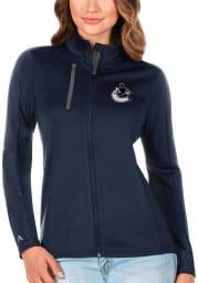 Antigua Vancouver Canucks Womens Navy Blue Generation Light Weight Jacket