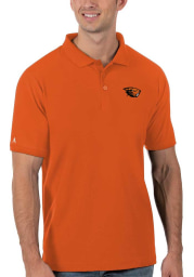 Antigua Oregon State Beavers Mens Orange Legacy Pique Short Sleeve Polo
