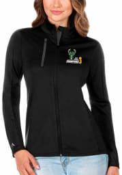 Antigua Milwaukee Bucks Womens Black 2021 NBA Finals Champions Generation Light Weight Jacket