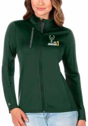 Antigua Milwaukee Bucks Womens Green 2021 NBA Finals Champions Generation Light Weight Jacket