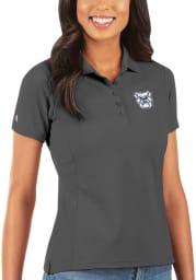 Antigua Butler Bulldogs Womens Grey Legacy Pique Short Sleeve Polo Shirt