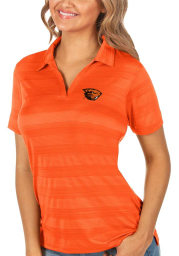 Antigua Oregon State Beavers Womens Orange Compass Short Sleeve Polo Shirt