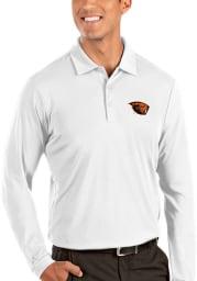 Antigua Oregon State Beavers Mens White Tribute Long Sleeve Polo Shirt