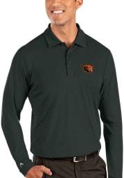 Antigua Oregon State Beavers Mens Grey Tribute Long Sleeve Polo Shirt