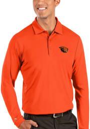 Antigua Oregon State Beavers Mens Orange Tribute Long Sleeve Polo Shirt