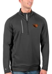 Antigua Oregon State Beavers Mens Grey Generation Long Sleeve 1/4 Zip Pullover