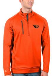 Antigua Oregon State Beavers Mens Orange Generation Long Sleeve 1/4 Zip Pullover