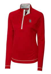Cutter and Buck STL Cardinals Womens Red Evolve 1/4 Zip Pullover