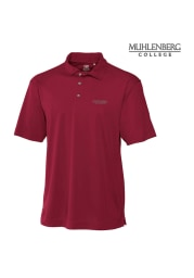 Cutter and Buck Muhlenberg College Mens Maroon Genre Short Sleeve Polo