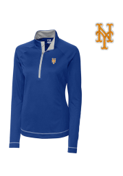 Cutter and Buck NY Mets Womens Blue Evolve 1/4 Zip Pullover