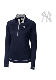 Cutter and Buck NY Yankees Womens Navy Blue Evolve 1/4 Zip Pullover