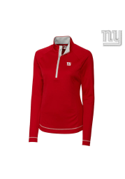 Cutter and Buck New York Womens Red Evolve 1/4 Zip Pullover