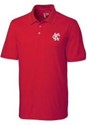 Cutter and Buck Kansas City Athletics Mens Red Fairwood Short Sleeve Polo