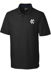 Cutter and Buck Kansas City Athletics Mens Black Fairwood Short Sleeve Polo