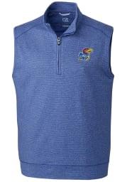 Cutter and Buck Kansas Jayhawks Mens Blue Shoreline Sweater Vest