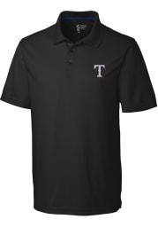 Cutter and Buck Texas Rangers Mens Black Fairwood Short Sleeve Polo