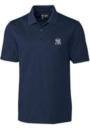 Cutter and Buck New York Yankees Mens Navy Blue Fairwood Short Sleeve Polo