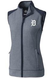 Cutter and Buck Detroit Tigers Womens Navy Blue Cedar Park Vest
